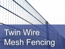 Twin wire mesh fencing